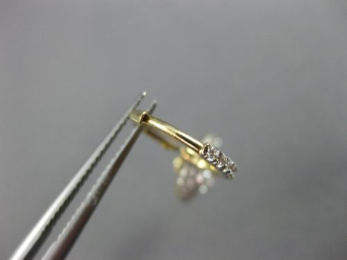 ESTATE 1.16CT DIAMOND 14KT YELLOW GOLD 3D DOUBLE HALO LEVERBACK HANGING EARRINGS