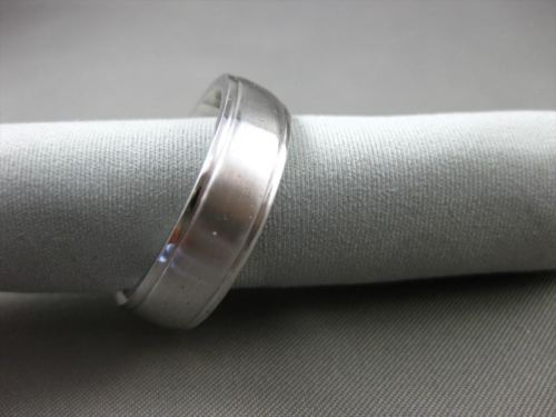 ESTATE 14KT WHITE GOLD HANDCRAFTED 3D SOLID COMFORT FIT WEDDING ANNIVERSARY RING