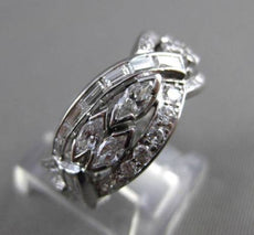 ANTIQUE WIDE 3.25CT DIAMOND PLATINUM 3D INFINITY ETERNITY ANNIVERSARY RING 21701