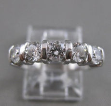 ESTATE 5 ROUND DIAMOND WEDDING ANNIVERSARY PLATINUM RING SPLIT CHANNEL VVS 19231