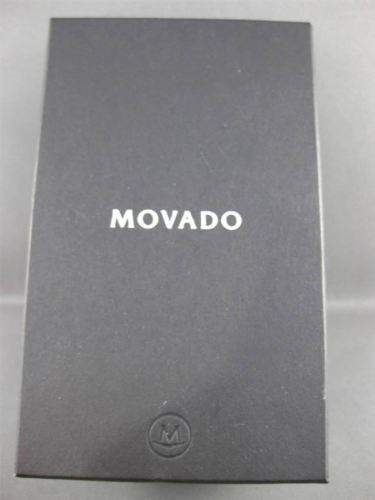 MOVADO PORTICO STAINLESS STEEL BLACK FACE SWISS MOVEMENT MENS WATCH #23418