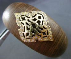 ESTATE .30CT DIAMOND 14K YELLOW GOLD HANDCRAFTED FILIGREE WOODEN BANGLE BRACELET