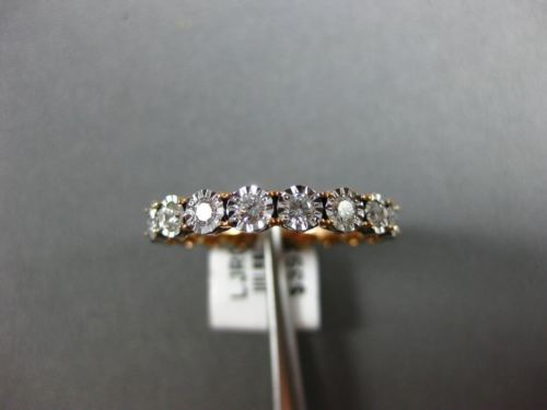 .96CT DIAMOND 18KT ROSE GOLD 3D ETOILE HEART ETERNITY WEDDING ANNIVERSARY RING