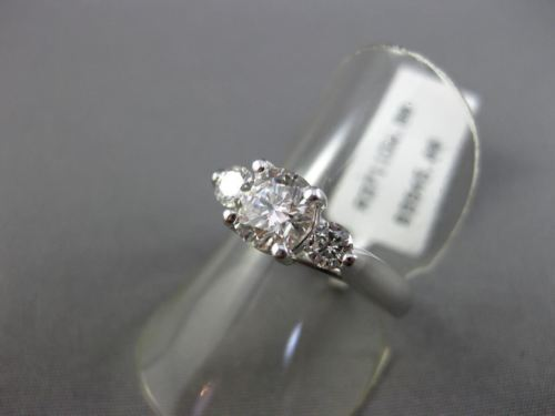 ESTATE 1.20CT DIAMOND 18KT WHITE GOLD 3D CLASSIC 3 STONE LUCIDA ENGAGEMENT RING