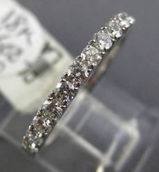 ESTATE .50CT DIAMOND 18K WHITE GOLD 3D CLASSIC SEMI ETERNITY ANNIVERSARY RING