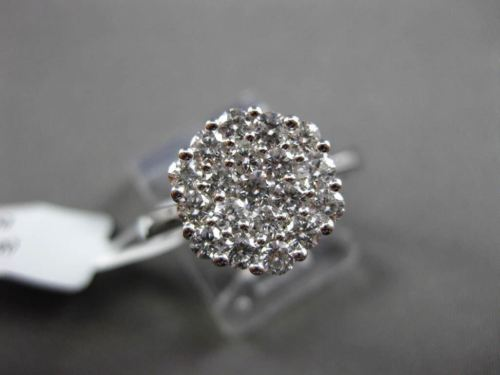 ESTATE 1.0CT DIAMOND 14KT WHITE GOLD CLUSTER HEXAGON PROMISE FRIENDSHIP RING