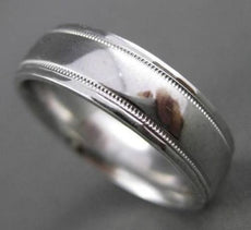 PLATINUM CLASSIC MILGRAIN MENS WEDDING BAND RING 6mm WIDE HANDSOME 20433