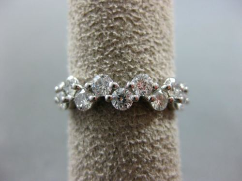 WIDE 2.88CT DIAMOND 14KT WHITE GOLD 3D ZIG ZAG ETERNITY WEDDING ANNIVERSARY RING
