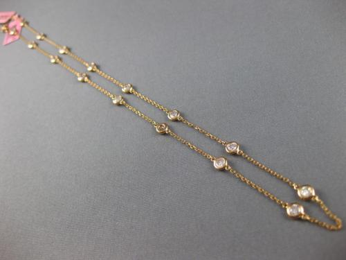 ESTATE 2.02CT PINK DIAMOND 18KT ROSE GOLD CLASSIC BY THE YARD 16 STONE NECKLACE