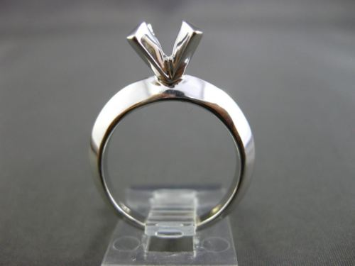 ESTATE 14KT WHITE GOLD 3D TENSION SOLITAIRE SEMI MOUNT ENGAGEMENT RING #24580