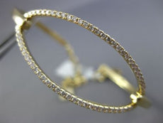 ESTATE LARGE & WIDE .67CT DIAMOND 14KT YELLOW GOLD 3D CLASSIC OVAL BRACELET