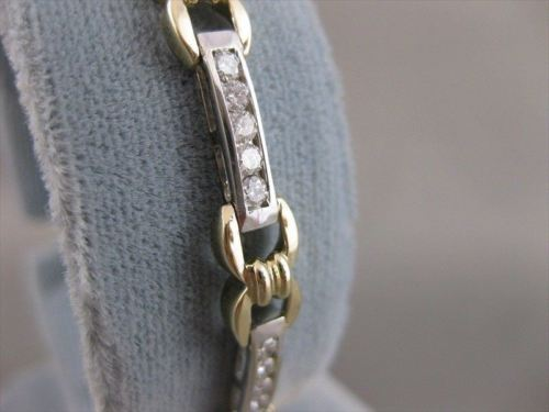 "ESTATE 1.60CTW DIAMOND 14K WHITE YELLOW GOLD LOVE BRACELET F VVS 7.0"" 6MM #19823"