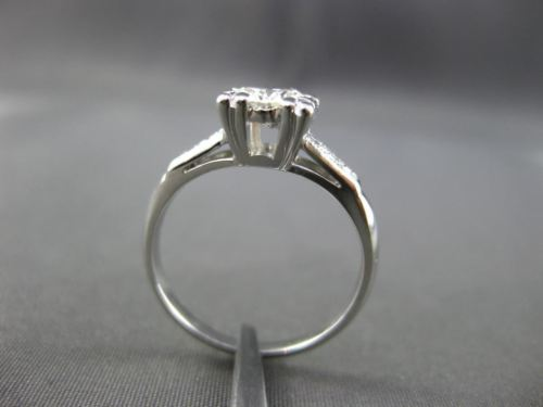 ANTIQUE .65CT OLD MINE DIAMOND 14KT WHITE GOLD FILIGREE ENGAGEMENT RING #23431