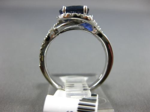 WIDE 1.88CT DIAMOND & AAA SAPPHIRE 14KT WHITE GOLD HALO INFINITY ENGAGEMENT RING