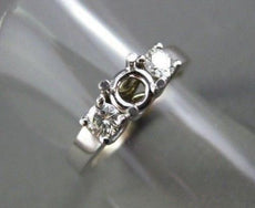 ESTATE .40CT DIAMOND 14KT W PAST PRESENT FUTURE SEMI MOUNT ENGAGEMENT RING #432