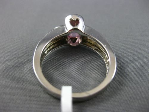 1.27CT DIAMOND & AAA PINK TOPAZ 14KT WHITE GOLD 3D SEMI FILIGREE ENGAGEMENT RING