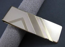 ESTATE LARGE 14KT YELLOW GOLD RECTANGULAR MONEY CLIP ENGRAVABLE CLASSIC! #22878