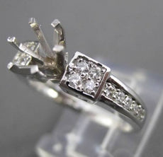ESTATE .36CT DIAMOND 14KT WHITE GOLD SIX PRONG SEMI MOUNT ENGAGEMENT RING #16091