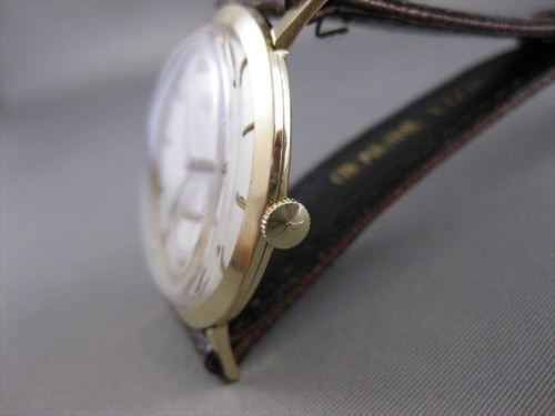 ANTIQUE LONGINES 14K YELLOW GOLD LARGE ROUND SWISS MENS MECHANICAL WATCH #2287