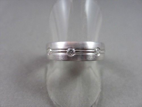 6mm HAND CRAFTED .30CT F VVS DIAMOND 14KT WHITE GOLD RING BAND AMAZING!!!!!!!!!!