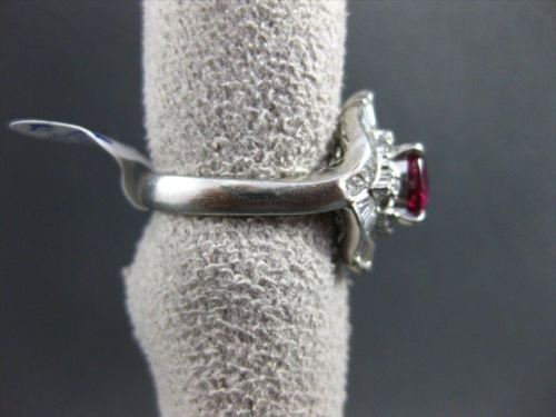 ANTIQUE LARGE 2.2CT DIAMOND & AAA RUBY PLATINUM FILIGREE BALLERINA COCKTAIL RING