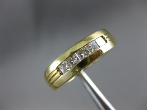 .70CT PRINCESS DIAMOND 14KT YELLOW GOLD 5 STONE INVISIBLE ANNIVERSARY RING 1288