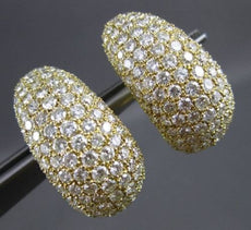 ESTATE MASSIVE 9.50CT ROUND DIAMOND 18KT YELLOW GOLD 3D CLIP ON EARRINGS #23438