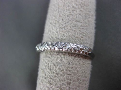 ANTIQUE .14CT OLD MINE DIAMOND PLATINUM 7 STONE WEDDING ANNIVERSARY RING #19288