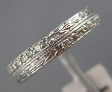 ESTATE .40CT DIAMOND 18KT WHITE GOLD 3D ETERNITY WEDDING ANNIVERSARY RING #1185