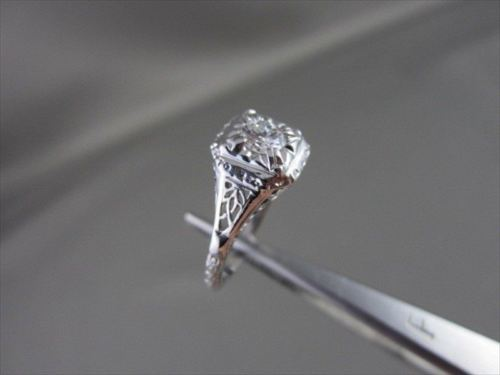 ANTIQUE 0.40CT 14KT WHITE GOLD DIAMOND SOLITARE RING ONE OF A KIND !!!!!!!!!!!!