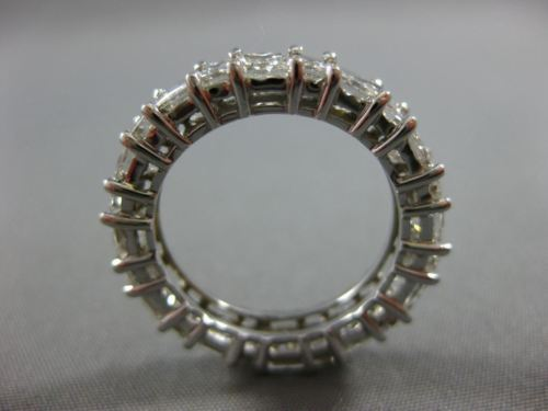 LARGE 5.75CT PRINCESS & BAGUETTE DIAMOND 14K WHITE GOLD 3D ETERNITY WEDDING RING
