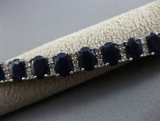 ESTATE LARGE 27.95CT DIAMOND & SAPPHIRE 18KT WHITE GOLD 3D CLASSIC OVAL BRACELET