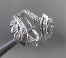 ANTIQUE WIDE .50CT OLD MINE DIAMOND 14KT WHITE GOLD BAGUETTE INSERT RING #19923