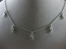 .23CT DIAMOND 18KT WHITE GOLD 3D ZIG ZAG BY THE YARD LIGHTNING STRICK NECKLACE