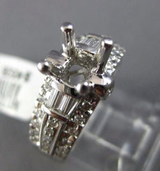 ESTATE LARGE .81CT DIAMOND 18KT WHITE GOLD 3D 4 PRONG SEMI MOUNT ENGAGEMENT RING