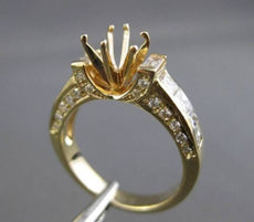 ESTATE 1.41CT DIAMOND 14KT YELLOW GOLD 3D SEMI MOUNT ENGAGEMENT RING #19797