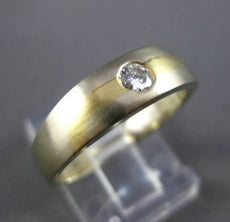 ESTATE .18CT DIAMOND 18KT WHITE & YELLOW GOLD SOLITAIRE BURNISH MEN RING #11227