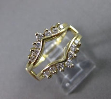 "ESTATE WIDE .50CT DIAMOND 14KT WHITE GOLD ""V"" SHAPE INSERT RING STUNNING #16623"
