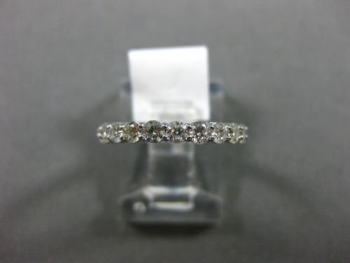 ESTATE 1.10CT DIAMOND 14KT WHITE GOLD CLASSIC ETERNITY WEDDING ANNIVERSARY RING