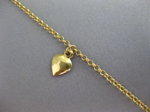 ESTATE LONG 14KT YELLOW GOLD FLOATING MULTI CHARM WRIST / ANKLE BRACELET #24699