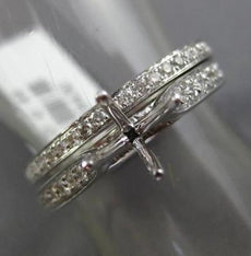 ESTATE DIAMOND 14KT WHITE GOLD 4 PRONG SEMI MOUNT ENGAGEMENT WEDDING RING SET