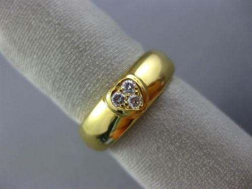 ESTATE TIFFANY & CO. .10CT DIAMOND 18K YELLOW GOLD THREE STONE HEART RING #26166