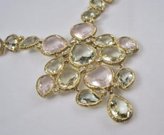 ANTIQUE 50.85CTW DIAMOND & MULTI GEM 18KT YELLOW GOLD MULTI SHAPE NECKLACE