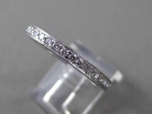 ANTIQUE 1.0CT DIAMOND PLATINUM MILGRAIN ETERNITY WEDDING ANNIVERSARY RING #17133