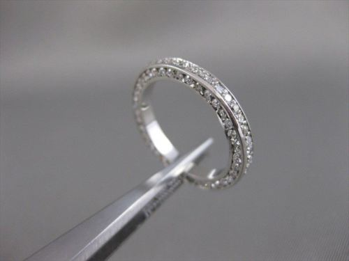 ANTIQUE 1.66CTW DIAMOND 14KT WHITE GOLD ETERNITY WEDDING ANNIVERSARY RING #12580