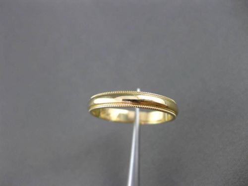 ESTATE 14KT YELLOW GOLD CLASSIC MILGRAIN WEDDING ANNIVERSARY RING BAND #24169