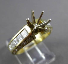 ESTATE 1.40CT DIAMOND 14K YELLOW GOLD 3D SEMI MOUNT ENGAGEMENT RING E/F VVS 1277