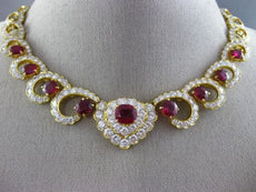 ESTATE LARGE 36.0CT DIAMOND & AAA RUBY 18KT WHITE & YELLOW GOLD CHOKER NECKLACE