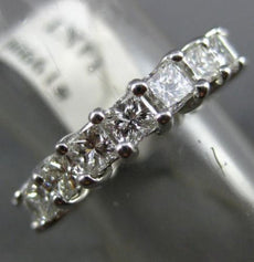 ESTATE 3.0CT PRINCESS DIAMOND 14KT WHITE GOLD 3D ETERNITY ANNIVERSARY RING 19900