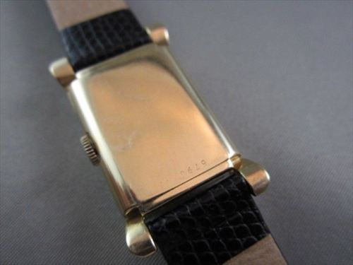ANTIQUE 14KT GOLD SQUARE FACE BULOVA MEN'S WATCH SIMPLE & CLASSIC!!!!!!!!!!!!!!